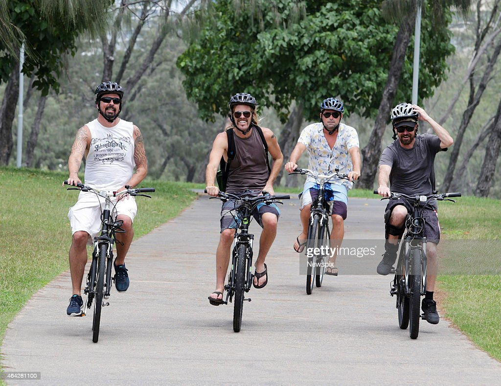 'Foo Fighters' Ride Bikes On The Gold Coast