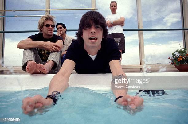 Foo Fighters group portrait, Denver, United Kingdom, 1998.