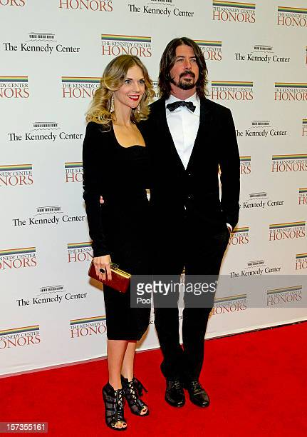 Foo Fighters guitarist Dave Grohl and his wife Jordyn arrive for the formal Artist's Dinner honoring the recipients of the 2012 Kennedy Center Honors...