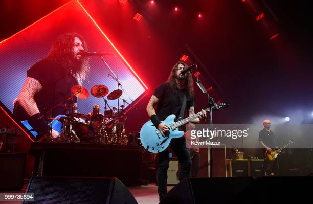 Foo Fighters perform on stage during their Concrete and Gold tour at Northwell Health at Jones Beach Theater on July 14 2018 in Wantagh New York