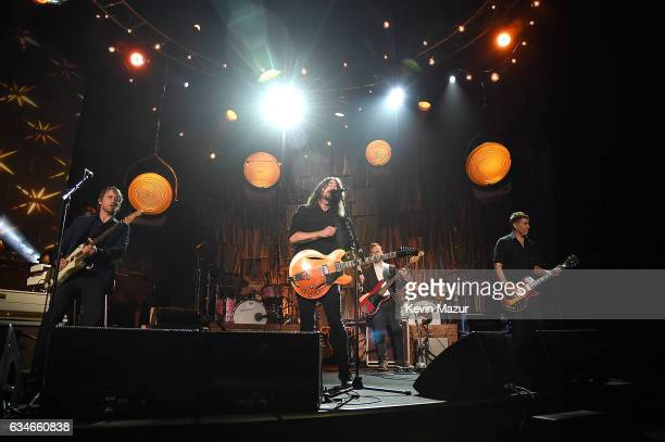 Foo Fighters perform onstage during MusiCares Person of the Year honoring Tom Petty at the Los Angeles Convention Center on February 10 2017 in Los...