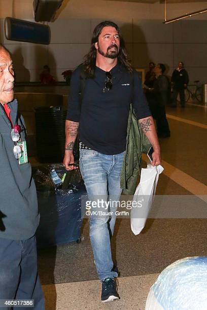 Foo Fighters seen at LAX on December 15 2014 in Los Angeles California