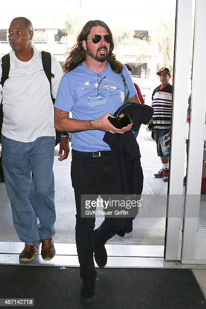 Foo Fighters seen at LAX on October 12 2014 in Los Angeles California
