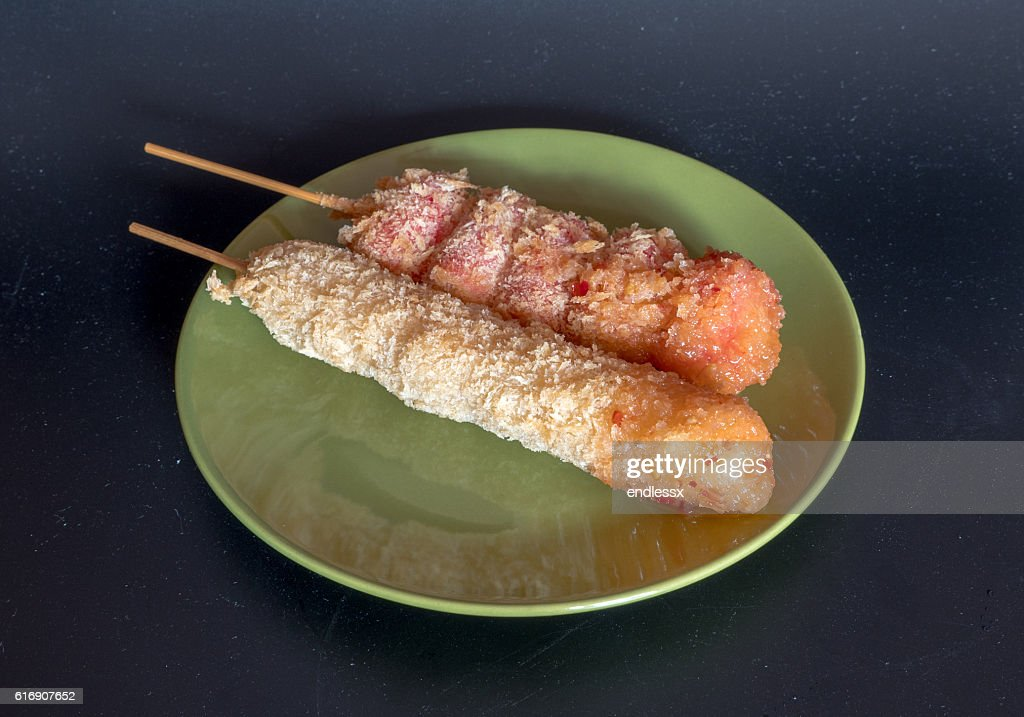 Food and Cuisine, Dish of Delicious Fried Sausages : Stock Photo