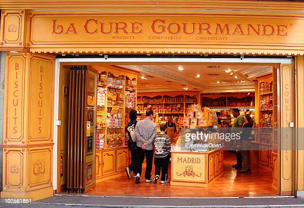 A food and gourmet shop for biscuits chocolate and confiserie on May 20 2010 in Madrid Spain Madrid is a big european city with more than 3 million...