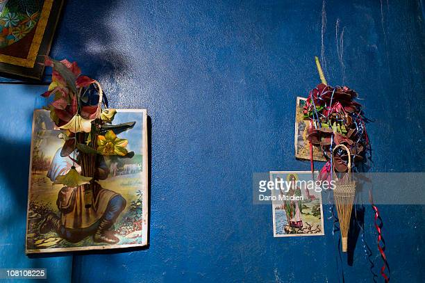 Food and objects are offered to honor the spirit of the dead during a private celebration of the Day of the Dead in PortauPrince Haiti on November 2...