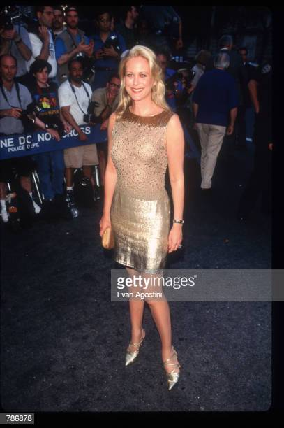 Food and Wine writercritic Nina Griscom arrives for a preauction reception at Christie's June 23 1997 in New York City The auction house was...