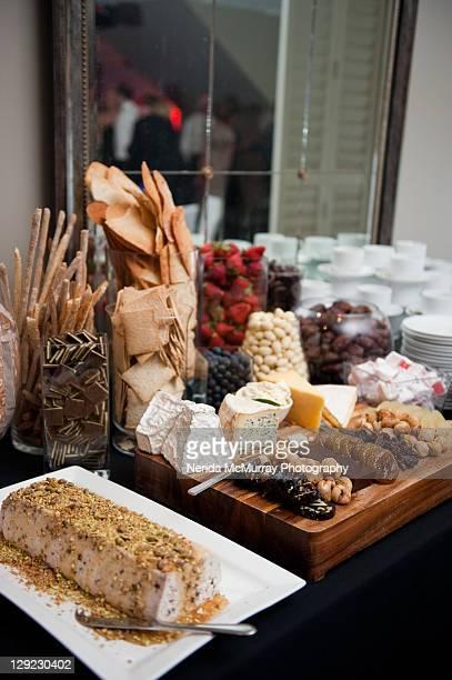 food at wedding reception