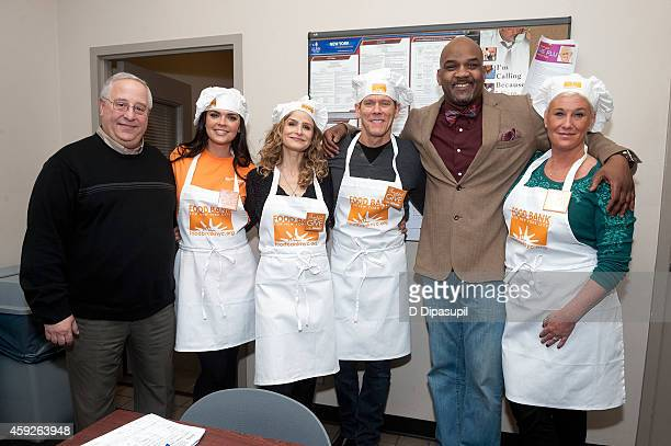 Food Bank For New York City vice president of Food Distribution Dan Cinquemani Katie Lee Kyra Sedgwick Kevin Bacon Food Bank For New York City...