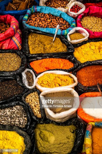 food being sold at the otavalo market - street market stock pictures, royalty-free photos & images
