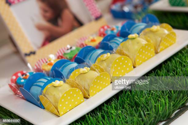 Food Beverage Dessert sweetvarious colors of chocolate candies with icing sugar