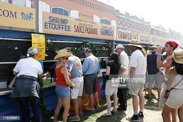 Food Booths at the New Orleans Fair Grounds, the venue for New Orleans Jazz & Heritage Festival on April 28, 2006