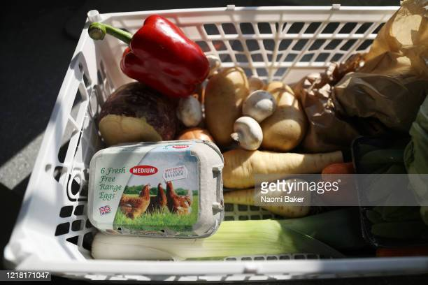 Food box is prepared at A&T Cooper Fruit and Vegetable shop who are offering online Fruit, Vegetable and Salad boxes for local delivery and pick up...