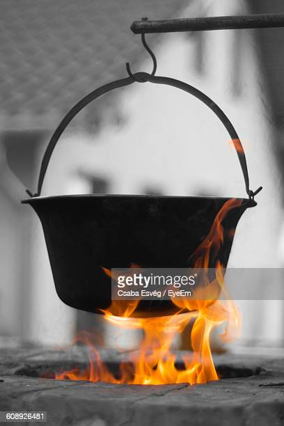 Food Cooked In Cauldron