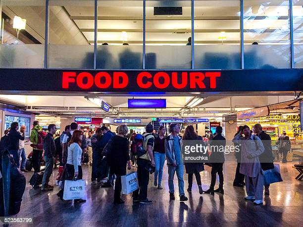 Food court at Ataturk Airport, Istanbul