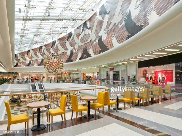 Food court in a large modern shopping Mall in Almaty
