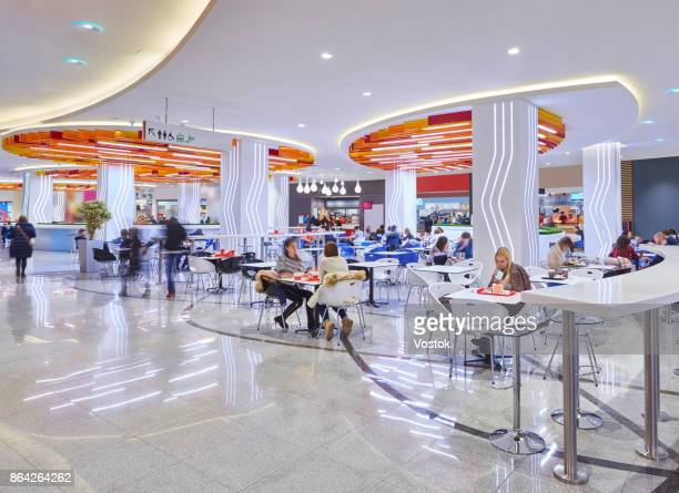 Food court in the new shopping mall in Moscow