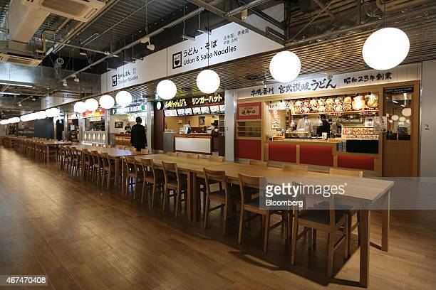 A food court is seen at Terminal 3 of Narita Airport in Narita Japan on Wednesday March 25 2015 The airport operator Narita International Airport...