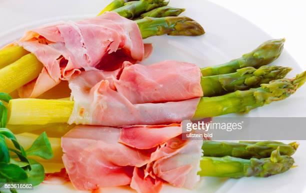 Food Court Vegetables green asparagus boiled ham