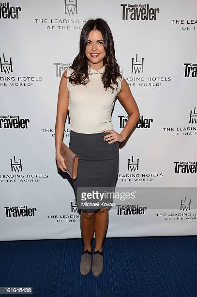 Food Critic Katie Lee joins Conde Nast Traveler as they celebrate The Leading Hotels Of The World 85th Anniversary at Mr C Beverly Hills on February...