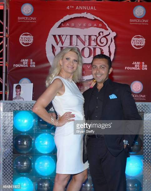 Food critic Sophie Gayot and Barcelona CEO Alan Semsar attend the Las Vegas Food and Wine Festival at the Red Rock Casino Resort and Spa on September...