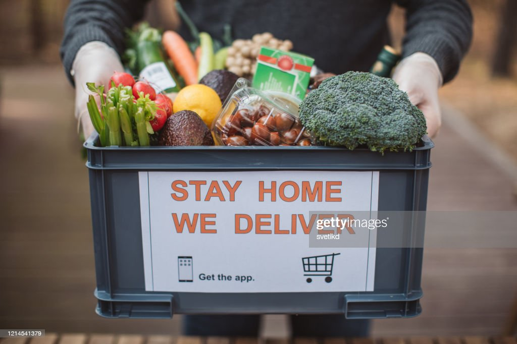 Food delivering : Stock Photo