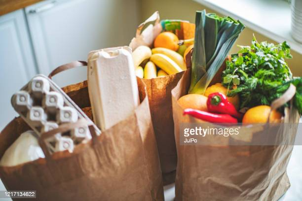 food delivery during quarantine - food stock pictures, royalty-free photos & images