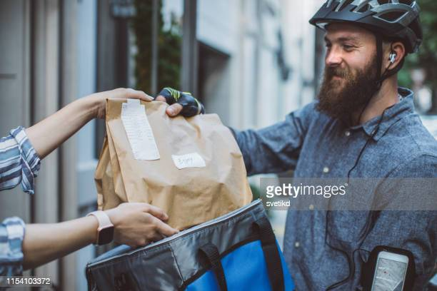 food delivery - food stock pictures, royalty-free photos & images
