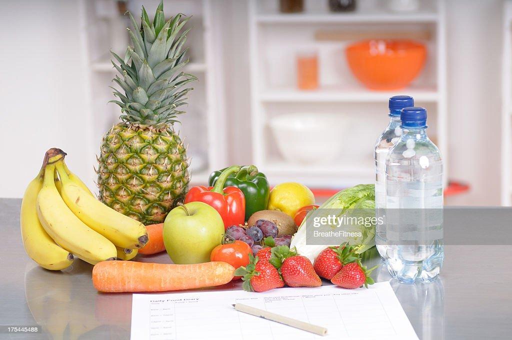 Food Diary : Stock Photo