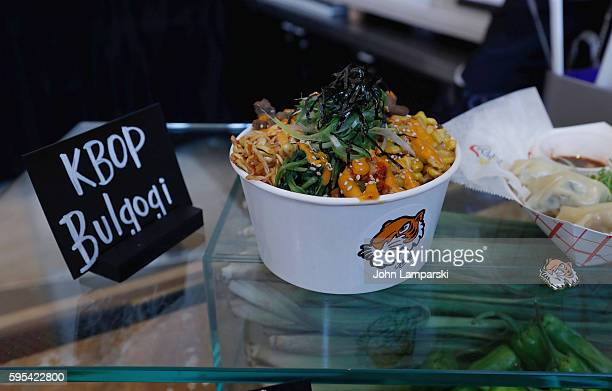Food displays during the 2016 US Open Media Food Tasting Preview at USTA Billie Jean King National Tennis Center on August 25 2016 in New York City