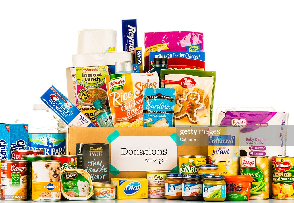 Food Donation Collection : Stock Photo