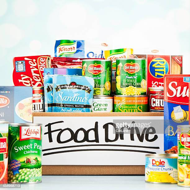 food drive collection - food drive stock pictures, royalty-free photos & images