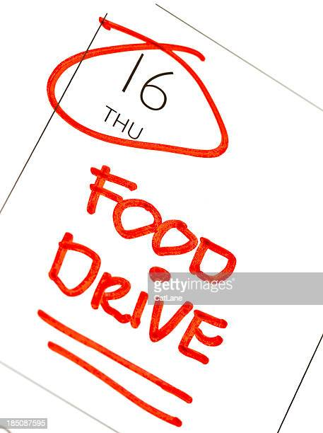 food drive reminder - thursday stock pictures, royalty-free photos & images