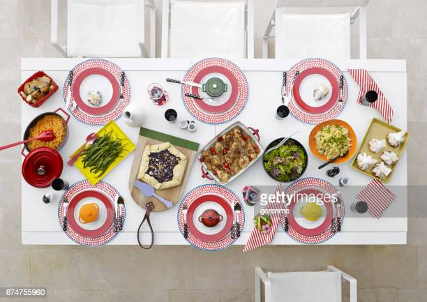 festival de gastronomia - mesa de jantar - fotografias e filmes do acervo