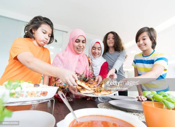 food for family together - iftar stock-fotos und bilder