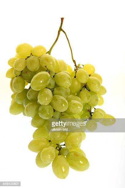 Food fruits A bunch of green grapes