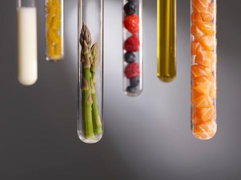 Food groups in test tubes - gettyimageskorea