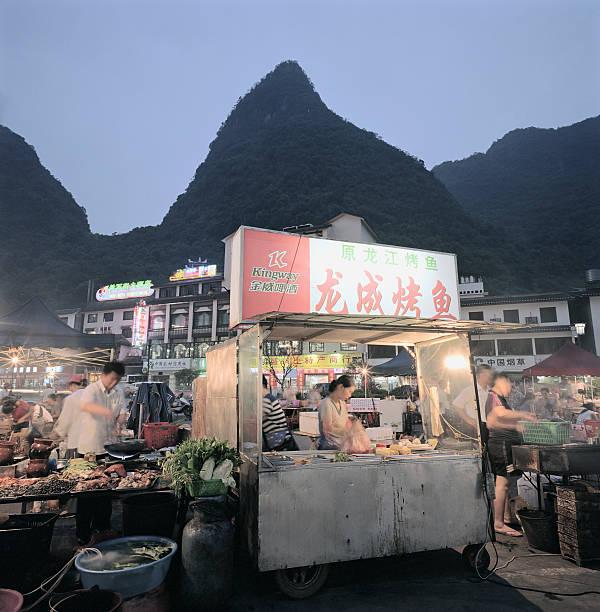 Food Hawker Stall.