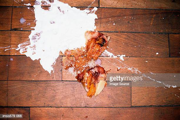 Food in a mess on the floor