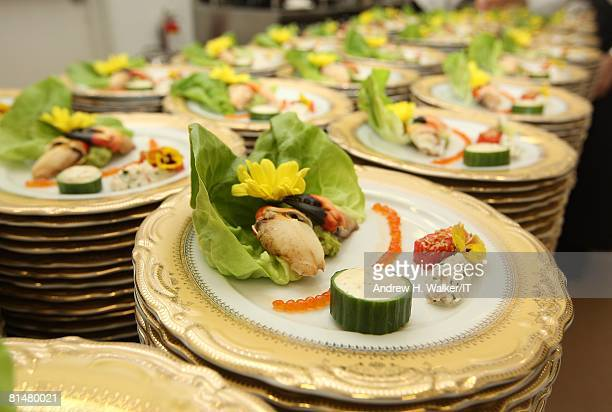 RATES Food is prepared at the wedding of Ivana Trump and Rossano Rubicondi at the MaraLago Club on April 12 2008 in Palm Beach Florida Cake Lambertz...