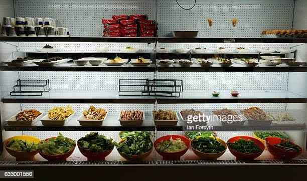 Food is prepared in a Chinese restaurant during the Chinese New Year celebrations to mark The Year of the Rooster on January 29 2017 in Newcastle...