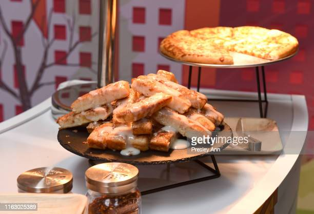 Food is served during the Pizza Hut Lounge at 2019 ComicCon International San Diego on July 19 2019 in San Diego California