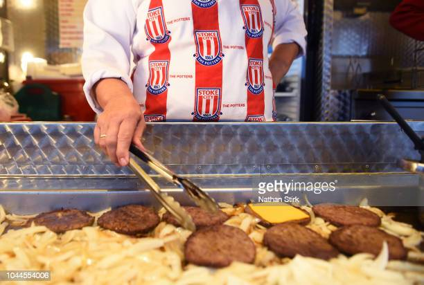 Food is sold before the Sky Bet Championship match between Stoke City and Bolton Wanderers at Bet365 Stadium on October 2 2018 in Stoke on Trent...