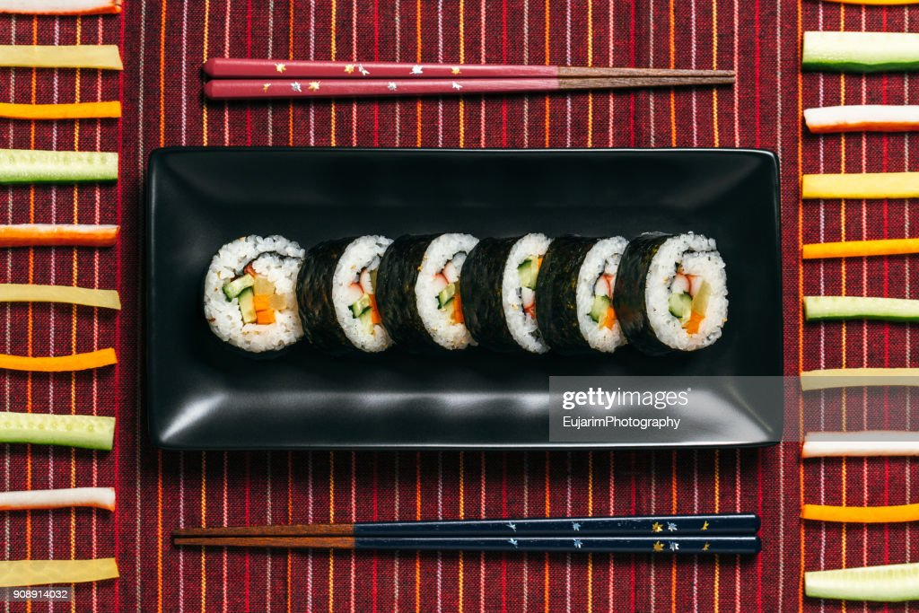 Food knolling, Japanese lunch : Stock Photo