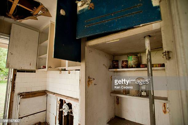 Food left behind in an abandoned home sit July 15 2010 in the lower 9th ward of New Orleans five years after historical hurricane Katrina devastated...