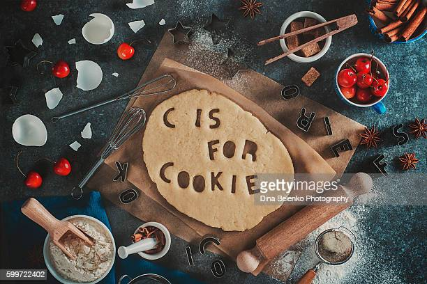Food lettering: C is for cookie