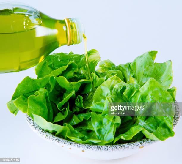 Food lettuce olive oil