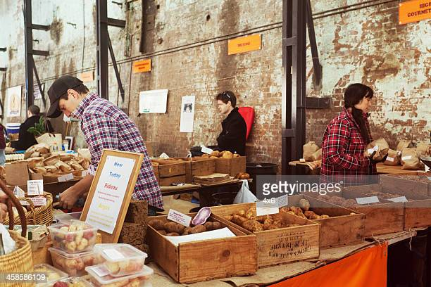 food market at carraigeworks sydney. - editorial stock pictures, royalty-free photos & images