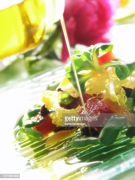 food: oil & blur quince salad
