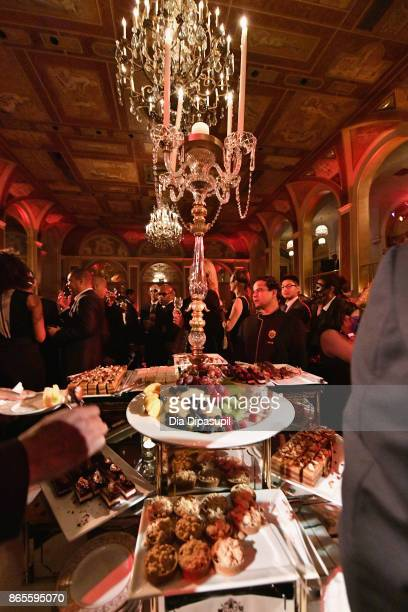 Food on display at HSA Masquerade Ball on October 23 2017 at The Plaza Hotel in New York City